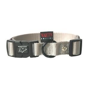 Collier chien réglable 22mm / 45-65cm gris 626680