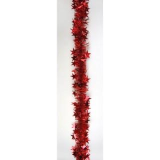 Guirlande rouge à grandes étoiles 627045