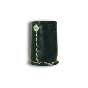 Grand Gobelet noir en pneu recyclé 7,5x13 cm 629733