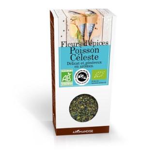 Fleurs d'épices pour poisson céleste bio en boite marron de 40 g 630256