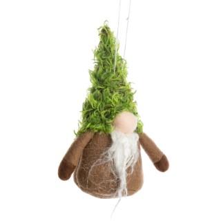 Décoration de Noël à suspendre personnage à gros nez vert clair 7 cm 634886