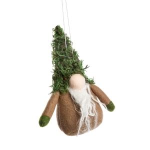 Décoration de Noël à suspendre personnage à gros nez vert foncé 7 cm 634887