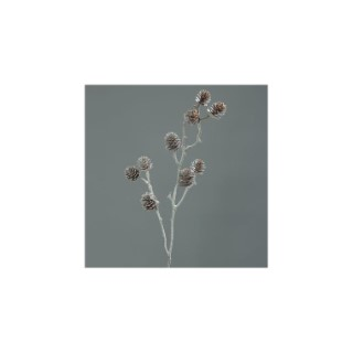 Branche glacée cônes de pin H98 cm 635098