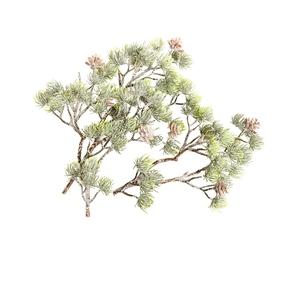 Branche de mélèze artificiel verte et scintillante 70 cm 635100