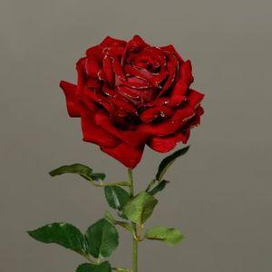 Rose velours scintillante 51 cm 635109