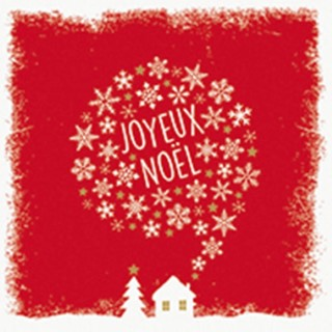 Serviettes x20 3 plis 33x33 cm Joyeux Noël 635251