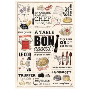 Torchon cuisine française 48x72 cm 635999
