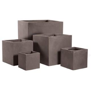 Pot carré GENEVE 28x28xH.28 Taupe 63674