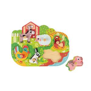 Puzzle Happy farm en bois – 18 à 36 mois 639261