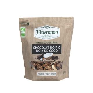 Muesli bio croustillant chocolat noir et noix de coco - 450 g 642249