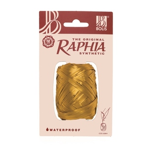 Raphia synthétique or - 13 mm x 20 m 411783