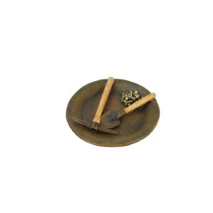 Décoration kit de chercheur d'or en polyrésine Ø15xH2,7 cm 645375