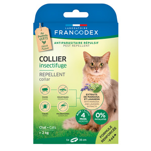 Collier insectifuge pour chat 35 cm 646675