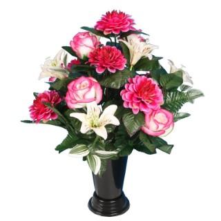 Cône rose chrysanthème mini lys orchidée 649880