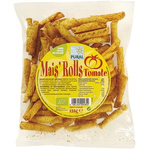 Chips maïs'rolls tomate en sachet de 125 g 650361