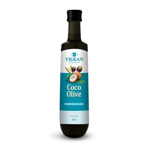 Huile Olive-Coco bio en bouteille de verre de 50 cl 650806