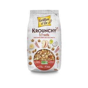 Céréales Krounchy 5 fruits bio en sachet de 500 g 651911