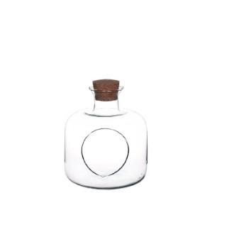 Vase wayane transparent taille M Ø 19 x H 24 cm 652426