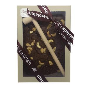 Plaque à casser chocolat lait bio noix de cajou éclats caramel 400 g 653041