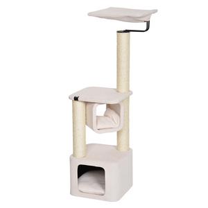 Arbre à chat Okinawa blanc 37x37x119 cm 653586