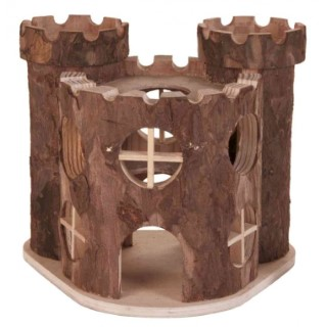 Château en bois pour rongeurs 17x12xH15 cm 654015