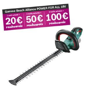 Taille-haies sans fil 18V BOSCH AHS 50-20 LI - outil seul sans batterie 655547