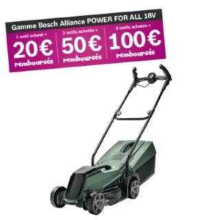 Tondeuse sans fil 18V BOSCH CityMower 18 - 1 batterie 18V 4Ah 655553