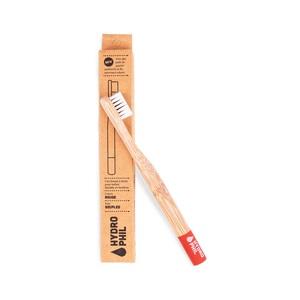 Brosse à dents bambou pour enfants Souple rouge 656021