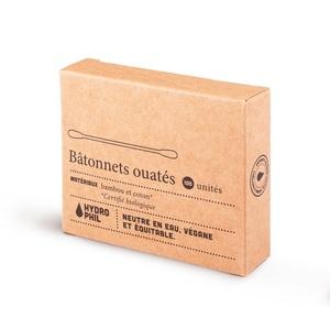 Bâtonnets ouatés en bambou et coton bio 100 unités 656023