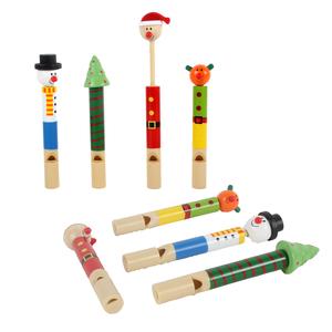 Sifflet à poussoir en bois et plastique multicolore 657458