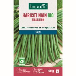 Étuis Haricot nain aiguillon extra-fin sans fil bio 100g. vert 657530