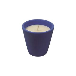 Bougie à la citronnelle dans bol terre cuite bleu Mykonos 80X82 659221