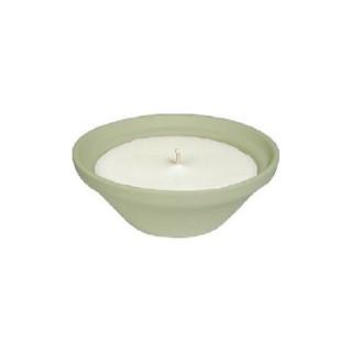 Bougie à la citronnelle dans bol terre cuite vert PANTONE 14-011 Amazon 70X155 659229