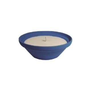 Bougie à la citronnelle dans bol terre cuite bleu Creta 70X155 659232