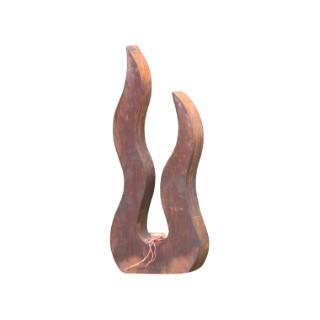 Flamme en métal oxydé coloris marron 115 cm 659286