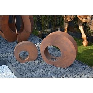Photophore bulle en métal effet rouille coloris marron 60 cm 659293