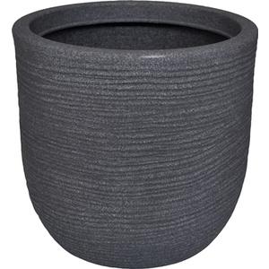 Pot rond Granit gris Ø 55 x 60 cm de 123 L 659312