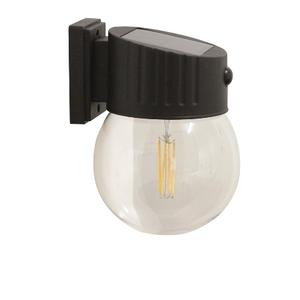 Applique solaire Nice noire à LED blanc chaud 17x16x24 cm 659335