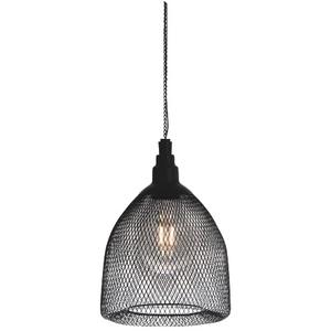 Suspension solaire Salsa en métal noir à LED blanc chaud Ø 17x L 25 cm 659338