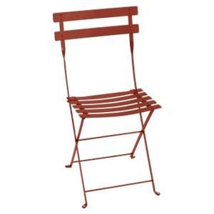 Chaise pliante Bistro ocre rouge L38xp40xh82 659347