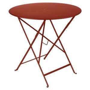 Table pliante Bistro FERMOB ocre rouge Ø77xh74 659350