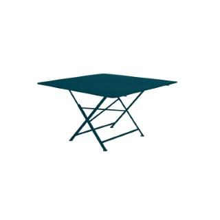Table pliante Cargo FERMOB bleu acapulco L128xl128xh74 659361