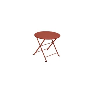 Table basse Tom pouce FERMOB ocre rouge Ø55x48,5 659362