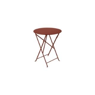 Table pliante Bistro FERMOB ocre rouge Ø60xh74 659368