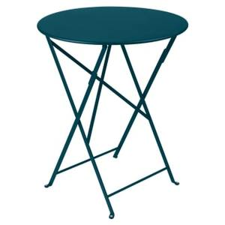 Table pliante Bistro FERMOB bleu acapulco Ø60xh74 659369