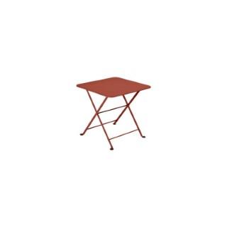Table basse carré Tom pouce Bistro FERMOB ocre rouge L50xl50xh48,5 659370