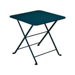 Table basse carré Tom pouce Bistro FERMOB bleu acapulco L50xl50xh48,5 659371