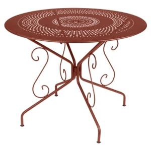 Table Montmartre FERMOB ocre rouge Ø96x74 659393