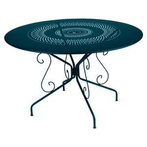 Table Montmartre FERMOB bleu acapulco Ø117x74 659396