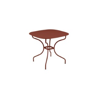 Table Opéra + FERMOB ocre rouge  L82xl82xh74 659431